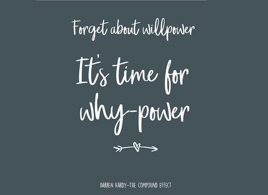 why-power wilskracht succesvol afvallen